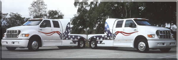 Vinyl graphics on trucks example